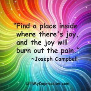 joy quote Joseph Campbell